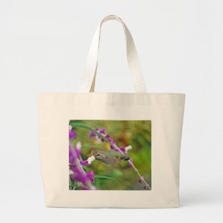 Hummingbird and Mexican Sage II Tote Bags
