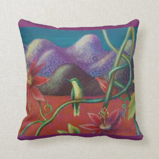 Hummingbird and Passionflower Cushion / Pillow