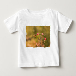 Hummingbird and Pink Flowers Baby T-Shirt