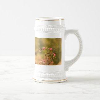 Hummingbird and Pink Flowers Beer Stein