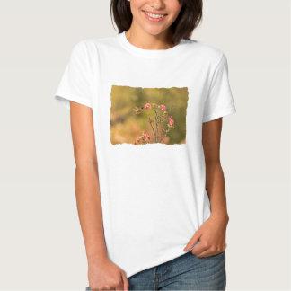 Hummingbird and Pink Flowers T-shirt