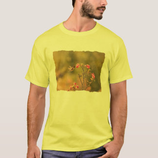 Hummingbird and Pink Flowers T-Shirt