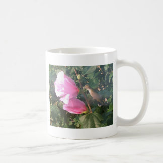 Hummingbird and Rose of Sharon Classic White Coffee Mug