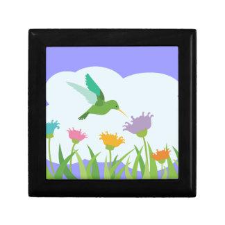 Hummingbird and Wildflowers Gift Box