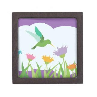 Hummingbird and Wildflowers Keepsake Box