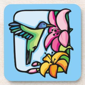 Hummingbird Art Deco Cork Coaster