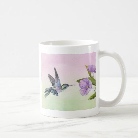 Hummingbird at Morning Glory Art Mug
