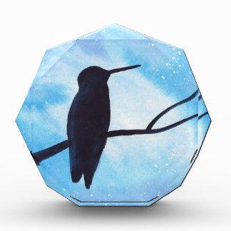 Hummingbird At Night Acrylic Award