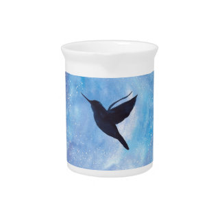 Hummingbird At Night Beverage Pitcher