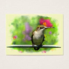 Hummingbird Atc Business Card at Zazzle