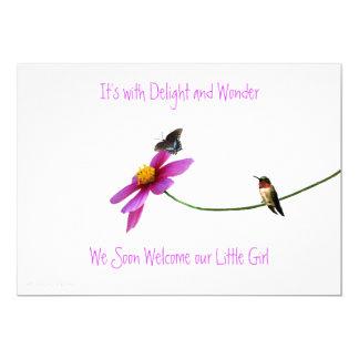 Hummingbird Baby Shower Invitation