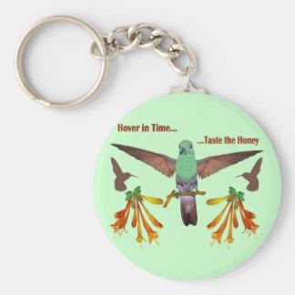 Hummingbird Basic Round Button Keychain