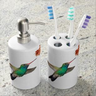 Hummingbird Bath Set. Bathroom Set