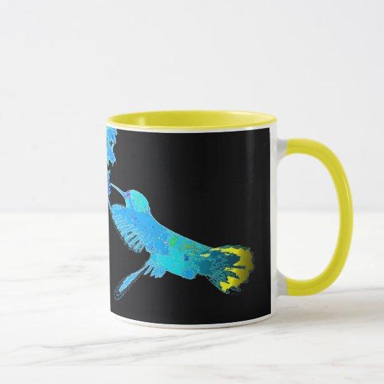 Hummingbird Bird Animal Wildlife Floral Mug
