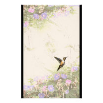 Hummingbird Bird Animal Wildlife Floral Stationery