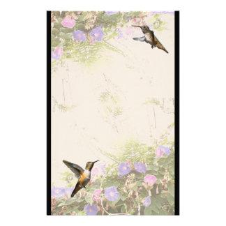 Hummingbird Bird Animal Wildlife Floral Stationery