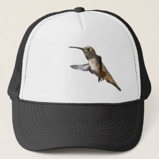 Hummingbird Bird Animal Wildlife Floral Trucker Hat