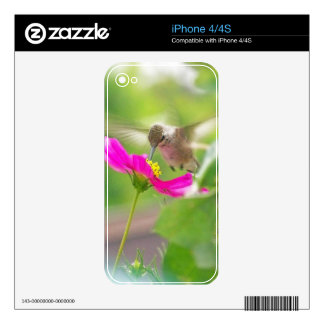 Hummingbird Bird Floral Wildlife Animal Flower Skins For The iPhone 4