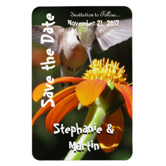 Hummingbird Bird Flower Floral Save the Date Magnet