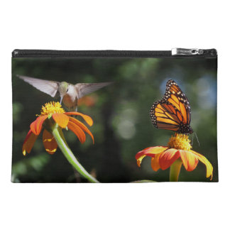 Hummingbird Bird Flower Monarch Butterfly Floral Travel Accessory Bag