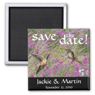 Hummingbird Bird Flowers Floral Save The Date Magnet