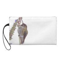 Hummingbird Bird Flowers Wildlife Floral Animals Wristlet Purse