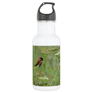 Hummingbird: Bird in Flowers 18oz Water Bottle