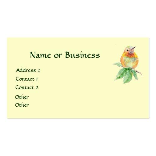 Hummingbird, Bird, Nature, Wildlife, Business Card
