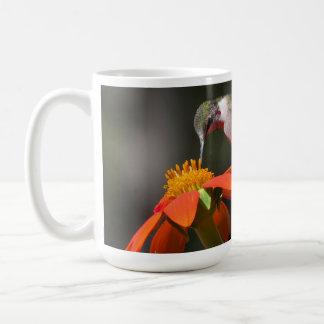 Hummingbird Bird Sunflower Flowers Floral Garden Coffee Mug