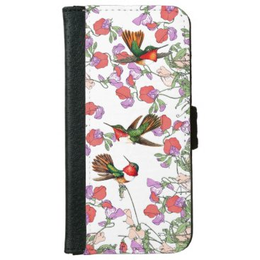 Hummingbird Bird Sweet Pea Flower iPhone 6 Case