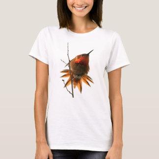 Hummingbird Bird Wildlife Animal Floral T-Shirt