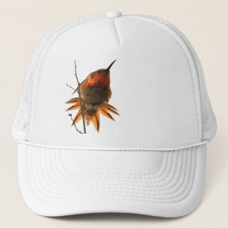 Hummingbird Bird Wildlife Animal Floral Trucker Hat