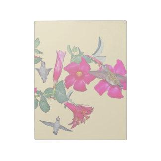 Hummingbird Bird Wildlife Animals Flowers Floral Notepad