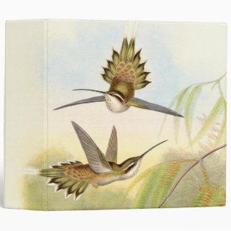 Hummingbird Bird Wildlife Animals Leaves 3 Ring Binder