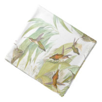 Hummingbird Bird Wildlife Animals Leaves Bandana