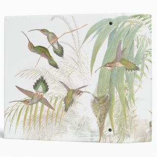 Hummingbird Bird Wildlife Animals Leaves Binder