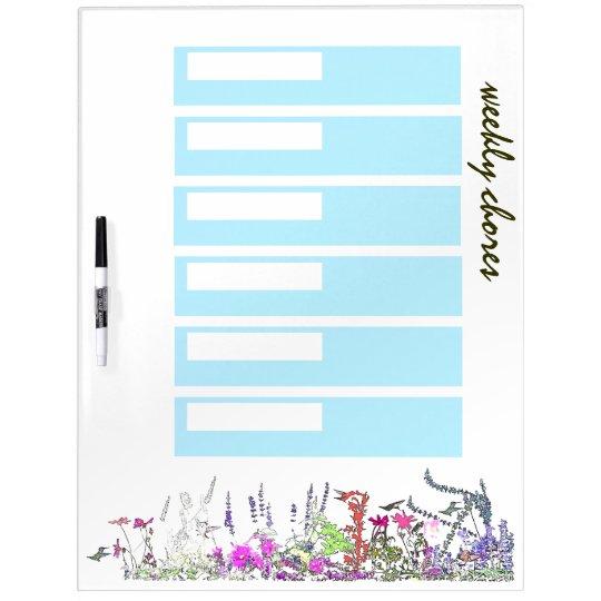 Hummingbird Bird Wildlife Flowers Animal Floral Dry-Erase Board