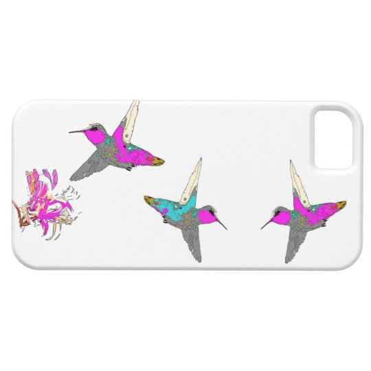 Hummingbird Bird Wildlife Flowers Animal Floral iPhone SE/5/5s Case
