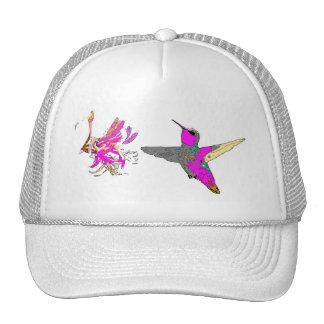 Hummingbird Bird Wildlife Flowers Floral Animals Trucker Hat