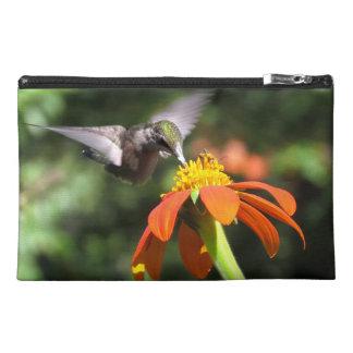 Hummingbird Bird Wildlife Sunflower Flower Floral Travel Accessory Bag