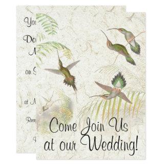 Hummingbird Bird Wildlife Wedding Invitation