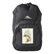 Hummingbird Birds Animals Floral Flowers Wildlife Backpack