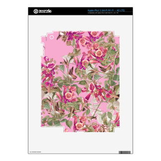 Hummingbird Birds Audubon Wildlife Flowers Floral iPad 3 Decal