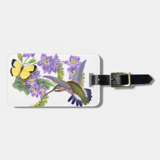 Hummingbird Birds Butterfly Flower Floral Tag