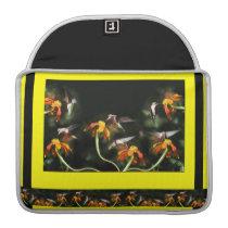 Hummingbird Birds Floral Wildlife Animal Flowers Sleeve For MacBook Pro