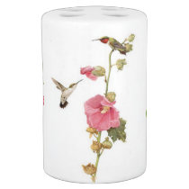 Hummingbird Birds Flower Floral Wildlife Animal Bath Set