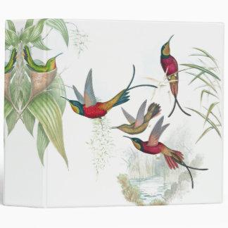 Hummingbird Birds Flowers Animals Wildlife Binder