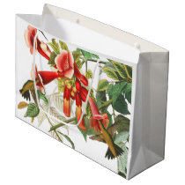 Hummingbird Birds Flowers Audubon Gift Bag