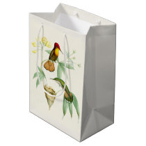 Hummingbird Birds Flowers Floral Nest Gift Bag