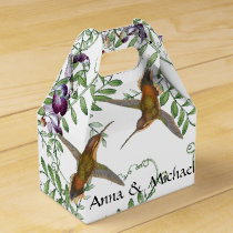 Hummingbird Birds Flowers Floral Vine Favor Box